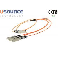 Quality Telecom grade Hot pluggable 40G QSFP to 4x10G SFP+ breakout AOC fiber optical cable wholesale