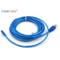Cheap Blue Transparent Micro USB Data Cable Micro 5 Pin USB 156g Net Weight for sale