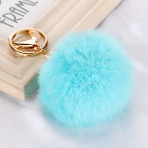 Quality New fancy  Rabbit fur ball /pom pom ball key chain / Small pom pom key chain / Animal pom pon wholesale