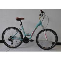 Quality CE standard steel  26 inch OL city bike for lady  with Shimano 21 speed with basket and carrier wholesale