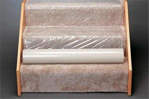 China 80 Micron Non Slip 600ft Plastic Carpet Protector Film For Stair on sale