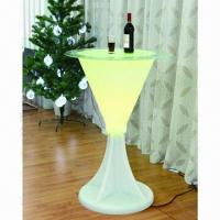 Quality Plastic Lighting Furniture/Lighting Bar with 5W High Power Color Changing LED Bulb/Garden Decoration wholesale