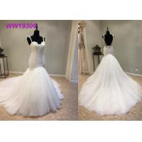 Quality Crystal Beading Mermaid Prom Dresses / Luxury Long Tail Mermaid Wedding Dress wholesale