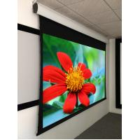 """Quality 135"""" Acoustically Transaprent  Tab Tensioned Motorized Screen ,  4K  projection screen wholesale"""