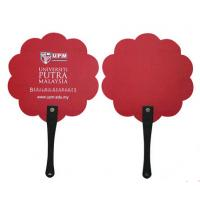 China High quality red Plastic Hand held fan with CMYK printing Promotional Fan and pp hand fan on sale