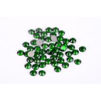 Quality Green Color Lead Free Rhinestones Environmentally Friendly For T Shirt / Nail Art wholesale