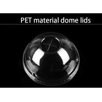 Quality PET material dome lid different size clear food grade lids for cups wholesale
