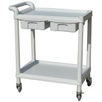 China ABS Utility Medical Equipment Trolley / Hospital Trolley With Two Drawers on sale
