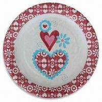 Quality Paper Plate with Color Printing, Various Sizes are Available wholesale