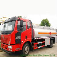 Quality FAW 9CBM Petroleum Oil Tanker Truck For Transport With 3 Persons Seater wholesale