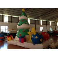 Cheap Xmas Inflatable Christmas Decorations Trees Christmas Yard Blow Ups 4 X 2.8 X 4.5m for sale