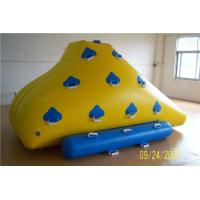 Funny Floating Water Toys , Inflatable Rock Climbing Wall For Water Leak Proof