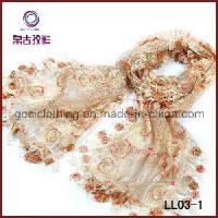 Quality Fashion Embroidery Lace Scarf (LL03-1) wholesale