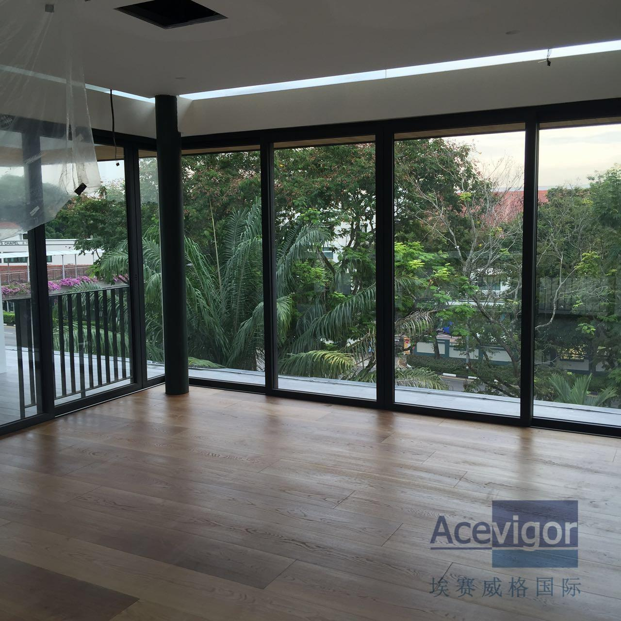 Cheap Bespoke 20/6 x 300 x 2200mm AB grade wide White Oak Engineered Flooring for Singapore Villa Projects for sale