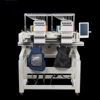 China Flat / T Shirt  / Shoes Double Head Embroidery Machine Like Brother Embroidery Machine on sale