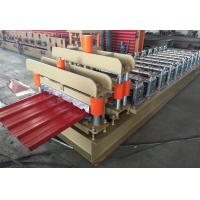 China 4Kw Metal Roofing Roll Former , Steel Sheet Metal Rolling Machine With 1 Inch Chain on sale