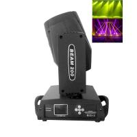 Quality 16 Channel Moving Head Beam Light Black / White Case200w 5R Philips Lamp wholesale