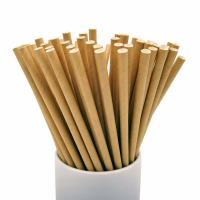 Quality Commercial Convenient Kraft Paper Straws Portable Lightweight 1.2g Per Pcs wholesale