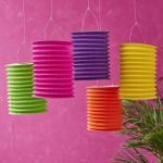 Quality Spring Lampion Paper Lanterns Craft , Outdoor Hanging Paper Candle Lanterns 10 X 15 Cm wholesale
