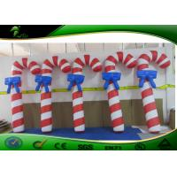 China High Strength 1.5mH Inflatable Holiday Yard Decorations Air Candy Cane on sale