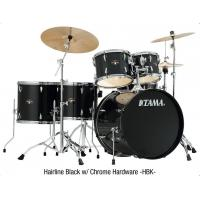 China TAMA Imperialstar 5-Piece Complete Drum Set with Meinl HCS Cymbals and 18 in. Bass Drum Hairline Black on sale