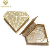 China Diamond Shape False Eyelash Packaging Box Cosmetic Product Package With Blister Insert on sale