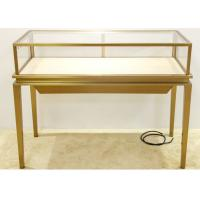Quality Luxury Jewelry Display Cases Stainless Steel Tempered Glass Material wholesale