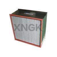 Quality Single / Double Flange Type Oven Fan Filter , Metal Mesh H12 Hepa Filter Box Type wholesale