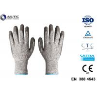 Quality Elastic Seamless Knit Industrial Safety Hand Gloves 3 Gauge HPPE Liner PU Coated wholesale