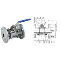 Quality 3/4 Inch 150LB SS304 Full Bore 3PC Flanged Ball Valve With ISO 5211 wholesale
