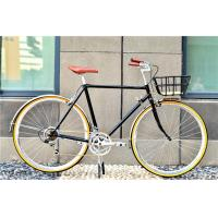Quality Cheap manufacturer price colorful hi-ten steel  26/28 size elegant retro lady bike with basket  for sale made in China wholesale