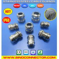 China Liquid Tight IP68 Stainless Steel Cable Glands with PG, Metric Threads on sale