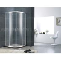 Quality Double Moving Door Aluminum Alloy Shower Screens Chromed Sliding With Stainless Steel Handle wholesale