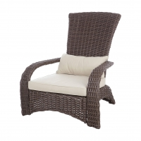 Quality Patio Sense Deluxe Wicker Chair All Weather For Porch Lawn Garden wholesale