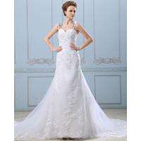 Quality Lace Flower Strapless sweetheart neckline Wedding Gowns with open back wholesale