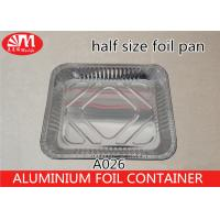 China Half Size Disposable Cooking Trays , 3400ml Volume Aluminum Pie Pans With Lids on sale