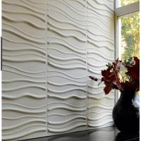 Quality Wave Paintable Waterproof  Vinyl Coated 3d Wall Board  for Backgrond Wall decoration wholesale