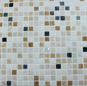 Quality Washroom Bathroom Backsplash Tile Square Pattern Marble Stone Mosaics wholesale