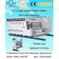 Quality Automatic 4 Color Corrugated Box Printer Slotter Die Cutter Machine with Stacker wholesale