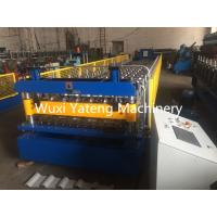 Quality Fast Speed Roof Panel Roll Forming Machine , PLC Control System Corrugated Sheet Making Machine wholesale