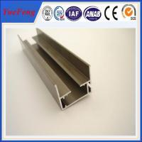 China supply aluminum channel extrusion anodized, 6063 aluminum extrusion profiles for stair on sale