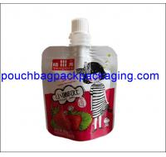 Quality Aluminum foil spout pouch, High barrier laminated stand up spout pouch shape bag for juice packaging wholesale