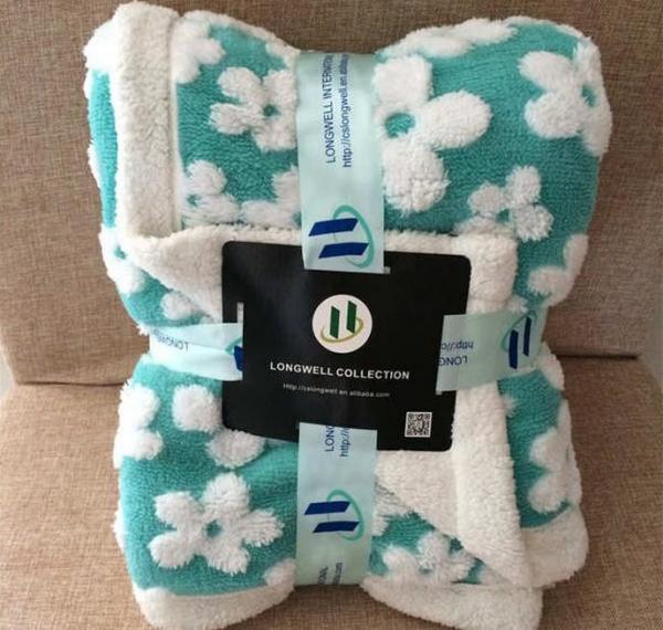 Cheap Professional Velvet Plush Sherpa Throw Blanket NO Shrink Pill Resistant for sale