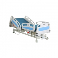 China 225kg Adjustable 750MM 5 Function Electric Hospital Bed on sale