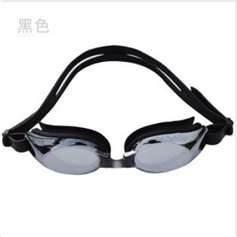 China Cool black color Environmentally friendly silicone swim goggles Anti Fog on sale