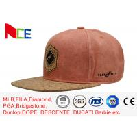 Quality 5 Panels Fitted Adjustable Snapback Hat , Awesome Womens Flat Brim Hat wholesale