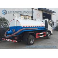 FAC 4*2 2m3 Water Tanker Truck Sewage Suction Tanker Truck With Vacuum Pump