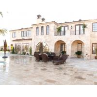 Quality Crosscut  Filled Outdoor Travertine Patio Tile , Tumbled Travertine Floor Tiles wholesale
