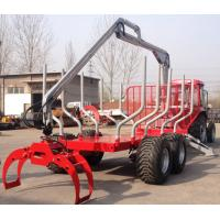 Quality China quality mounted crane at tractor or truck forestry machine with log grapple wholesale