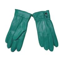 China Green leather gloves on sale